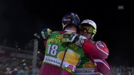 Video «Ski: Parallel-Riesenslalom, Alta Badia, Final Jansrud-Svindal» abspielen
