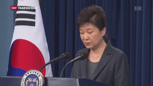 Video «Präsidentin Park in der Kritik» abspielen