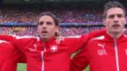 Video «Patriotische Fussballer: Wer singt die Nationalhymne am besten?» abspielen