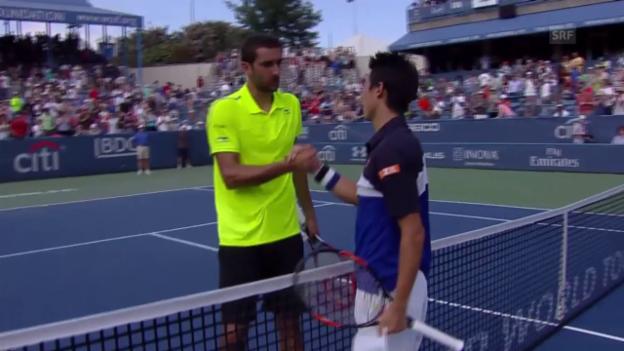 Video «Tennis Washington: Cilic-Nishikori» abspielen