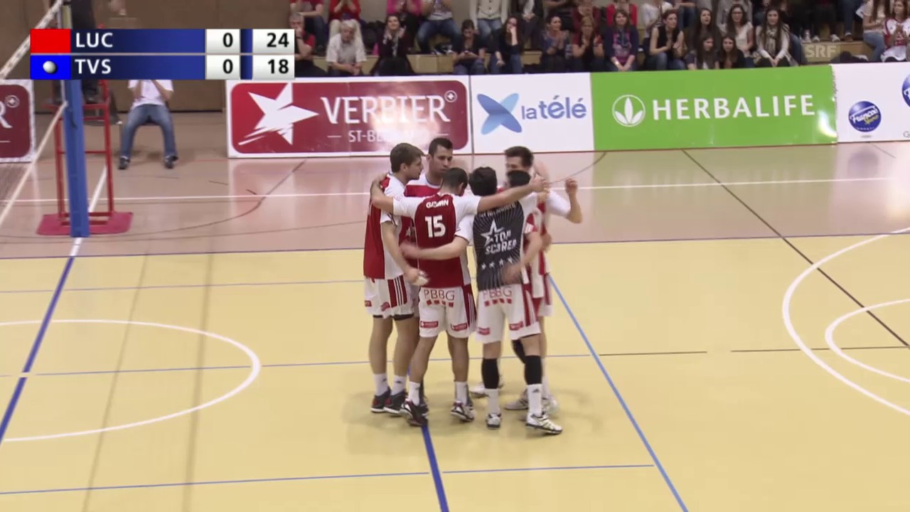 Volleyball: Pre-Playoff, Lausanne UC - TV Schönenwerd
