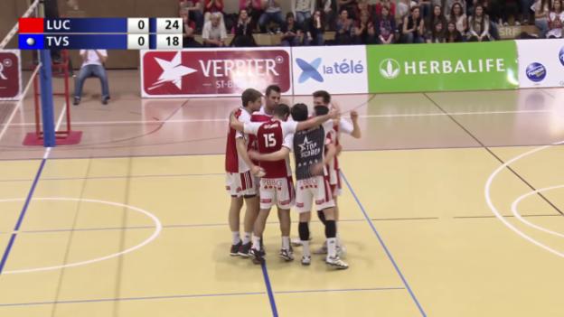Video «Volleyball: Pre-Playoff, Lausanne UC - TV Schönenwerd» abspielen