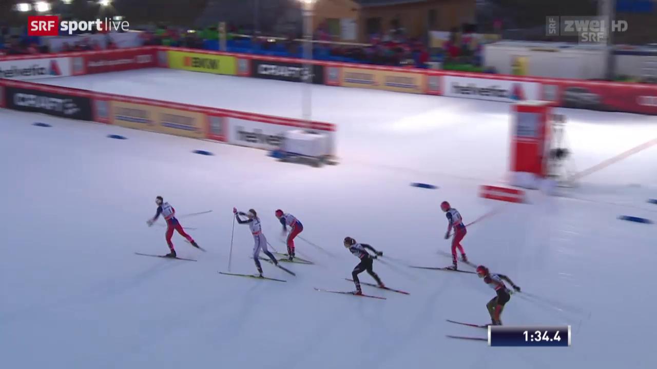 Langlauf: Sprint Lenzerheide, Halbfinal mit Laurien van der Graff