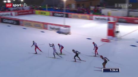 Video «Langlauf: Sprint Lenzerheide, Halbfinal mit Laurien van der Graff» abspielen