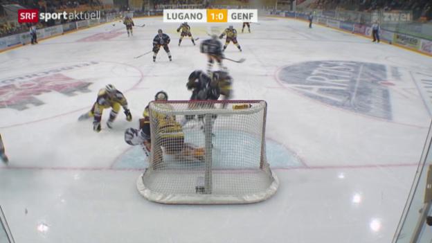 Video «Eishockey: NLA, Lugano - Genf-Servette» abspielen