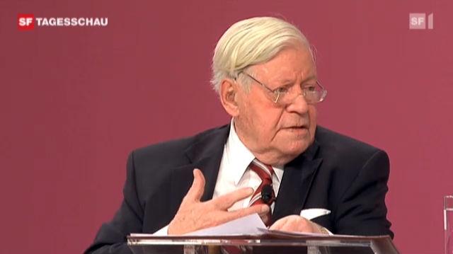 Klare Worte von Alt-Bundeskanzler Schmidt