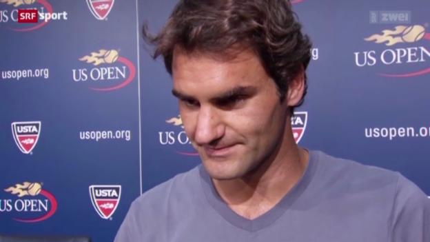 Video «Roger Federer vor den US Open» abspielen