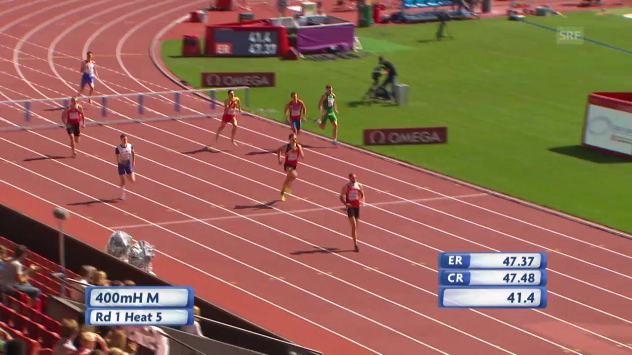 Leichtathletik: Hussein gewinnt Vorlauf über 400 m Hürden