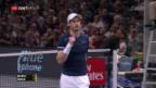 Video «Djokovic verliert, Murray siegt» abspielen