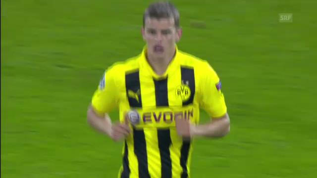 Fussball: Distanzschuss von Sven Bender gegen Real Madrid (24.10.2012).