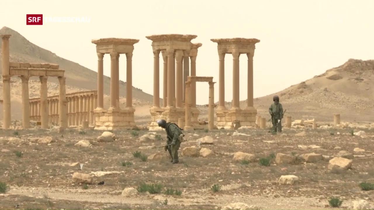 Russland räumt Palmyra auf