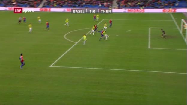 Video «Rang 4: Basels Streller gegen Thun (10 %)» abspielen
