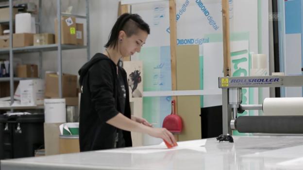 Video «Berufsbild: Gestalterin Werbetechnik EFZ» abspielen