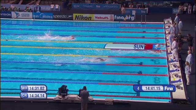 Final 1500 Meter Freistil der Männer