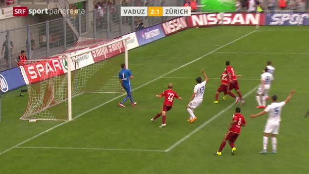 Video «Fussball: Super League, Vaduz - Zürich» abspielen