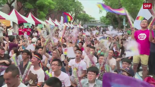 Video «Taiwan erlaubt Homo-Ehe» abspielen