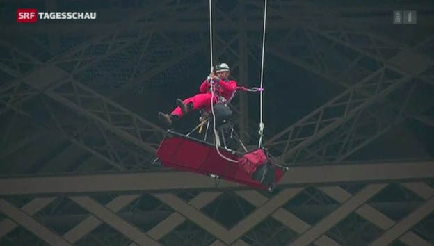 Video «Greenpeace-Aktion auf dem Eifelturm» abspielen