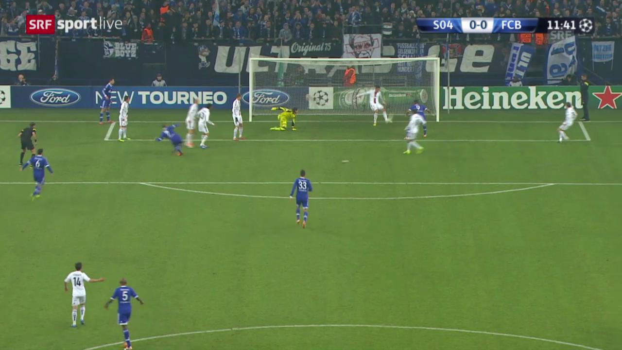 Fussball: CL, Schalke - Basel, Doppelchance Basel («sportlive», 11.12.2013)