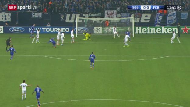 Video «Fussball: CL, Schalke - Basel, Doppelchance Basel («sportlive», 11.12.2013)» abspielen