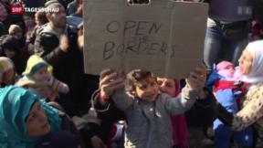 Video «Stopp an der griechisch-mazedonischen Grenze» abspielen