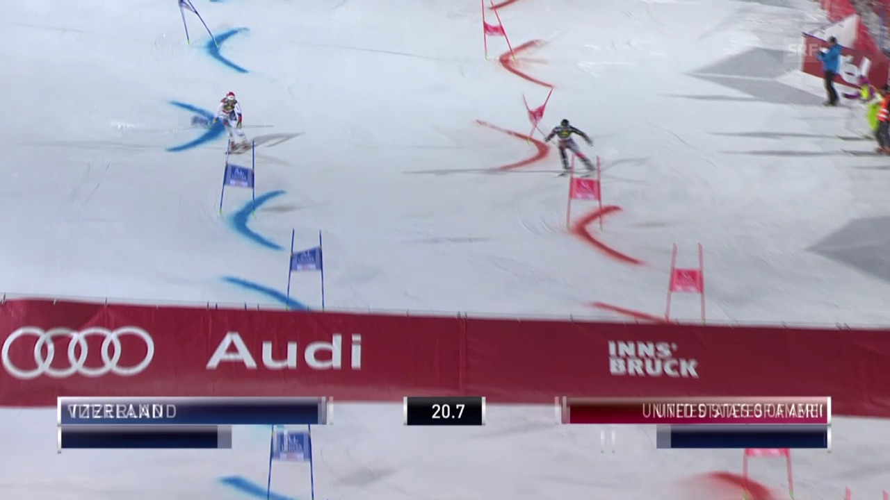 Ski: Team Event Innsbruck, kleiner Final Reto Schmidiger - David Chodounsky («sportlive», 25.02.2014)