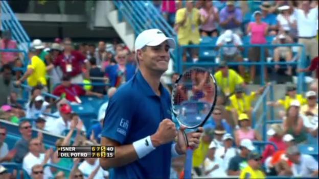 Video «Tennis: Isner - Del Potro: Wichtigste Ballwechsel (unkommentiert)» abspielen