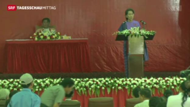 Video «Suu Kyi bleibt Generalsekretärin» abspielen