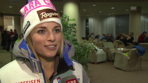 Video «Lara Gut im Interview vor den Rennen in Jasna» abspielen