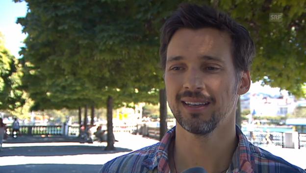 Video «Florian David Fitz zu Besuch in Zürich» abspielen