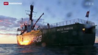Video «Greenpeace-Aktivist Marco Weber aus Haft entlassen» abspielen