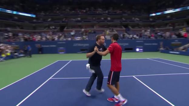 Video «Tennis: US Open, Tänzchen Djokovic» abspielen