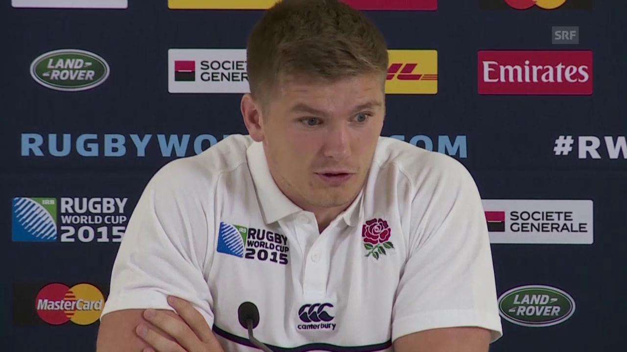 Rugby: WM, England-Australien, Owen Farrell vor dem Spiel