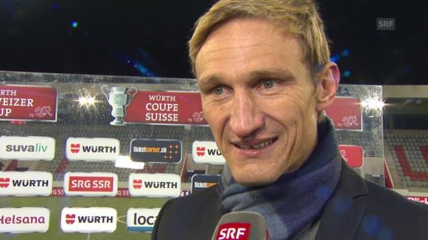 Video «Fussball: Cup-Viertelfinal Thun - FCZ, Interview Hyypiä» abspielen