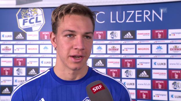 Video «Michael Frey: «Ich kann Luzern mit meinen Toren helfen»» abspielen