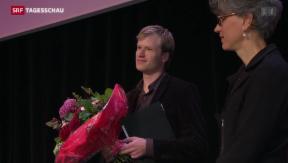 Video «Buchpreis 2013 für Jens Steiner» abspielen