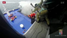 Video «Langwierige Rettung im Mittelmeer» abspielen