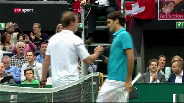 Video «Federer schlägt Zemlja in 2 Sätzen» abspielen