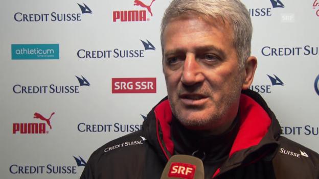 Video «Nationaltrainer Vladimir Petkovic vor dem Testspiel gegen Irland» abspielen