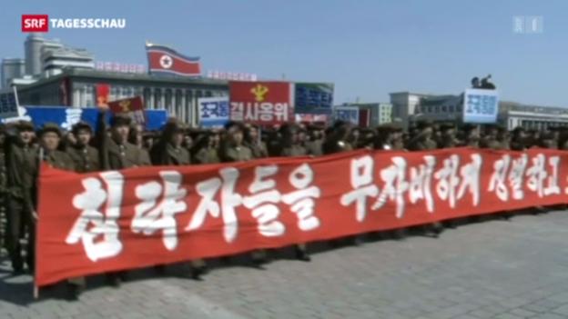 Video «Nordkoreas Raketen in Bereitschaft» abspielen