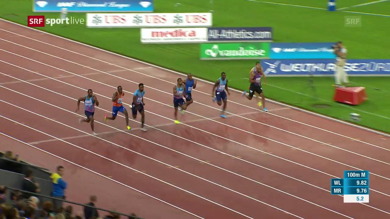 Das 100-m-Rennen der Männer: Ujah siegt, Gatlin Vierter