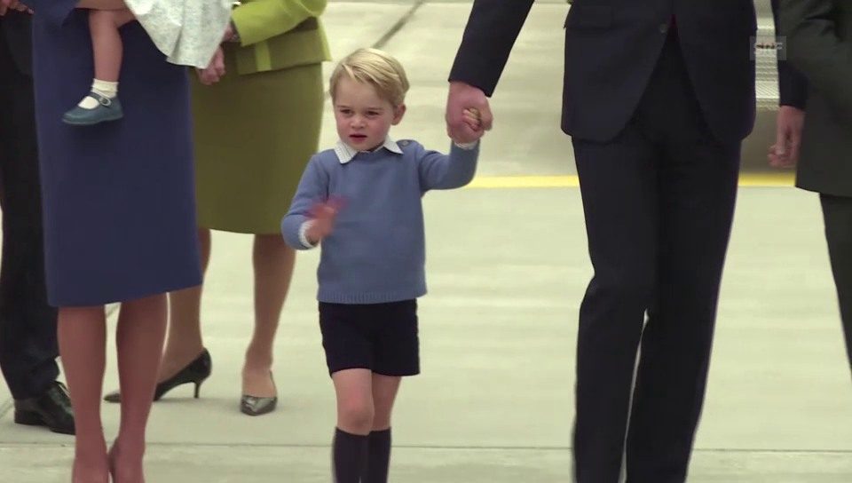 Ankunft der Prinzenfamilie in Kanada