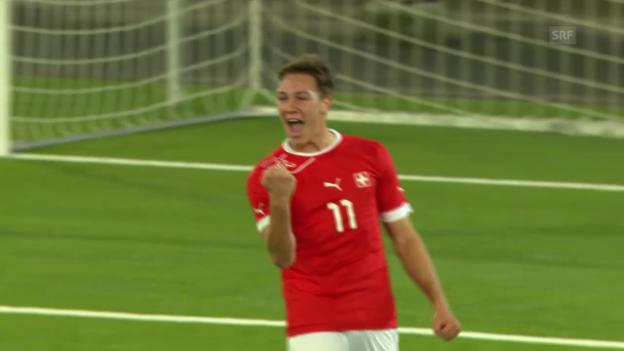 Video «Fussball: EM-Quali U21, Schweiz - Liechtenstein (05.03.2014)» abspielen