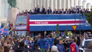 Video «Eruptionen inklusive: Fussball ist Islands Sportart Nummer 1» abspielen