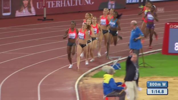 Video «Leichtathlatik: Weltklasse Zürich, 800 m der Frauen» abspielen