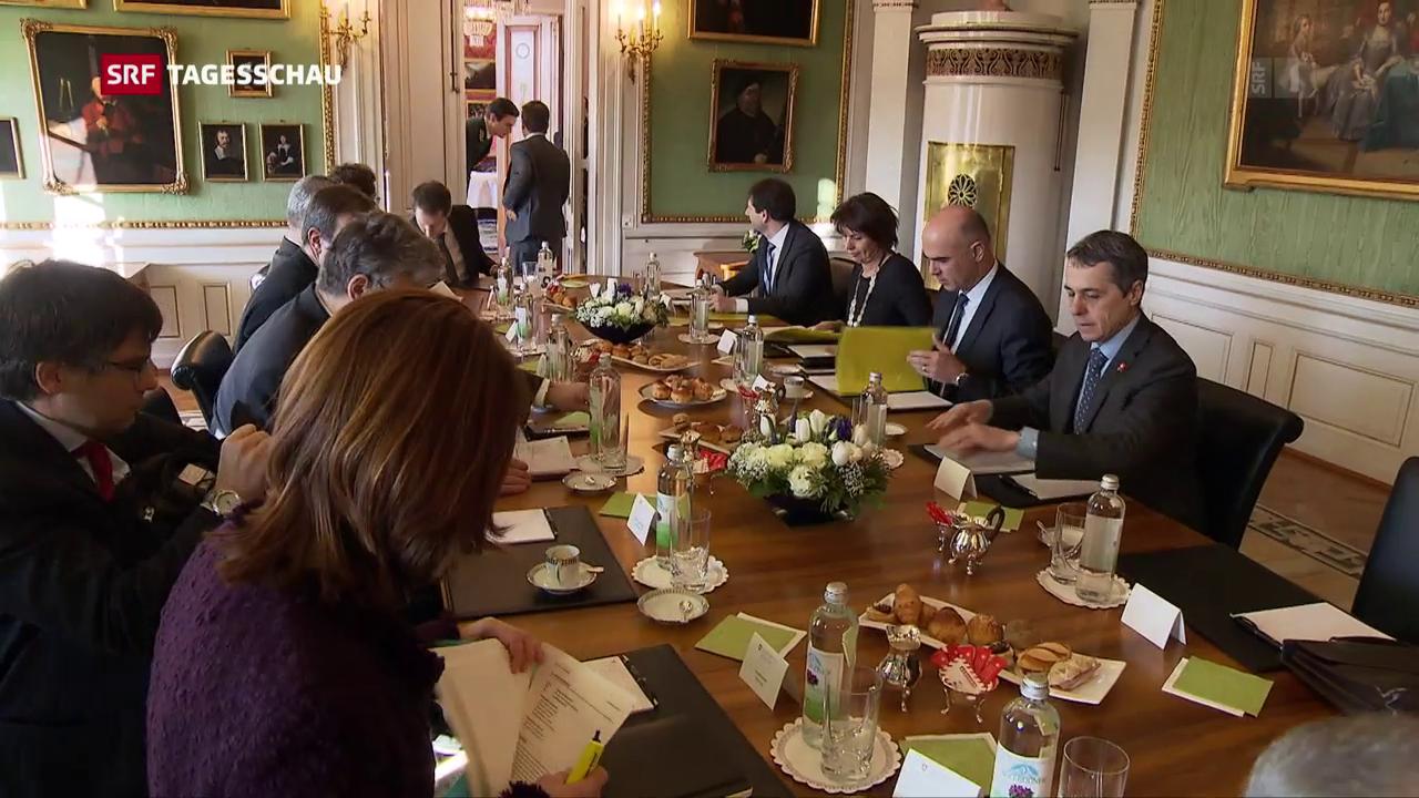 Von-Wattenwyl-Gespräche zu Europa und Steuern