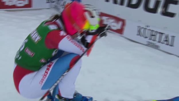 Video «Ski: Weltcup Frauen, Riesenslalom Kühtai, 1. Lauf Dominique Gisin» abspielen