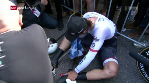 Video «Cancellara ohne Siegchancen beim Giro-Auftakt» abspielen
