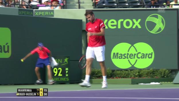 Video «Wawrinkas beste Punkte gegen Roger-Vasselin» abspielen