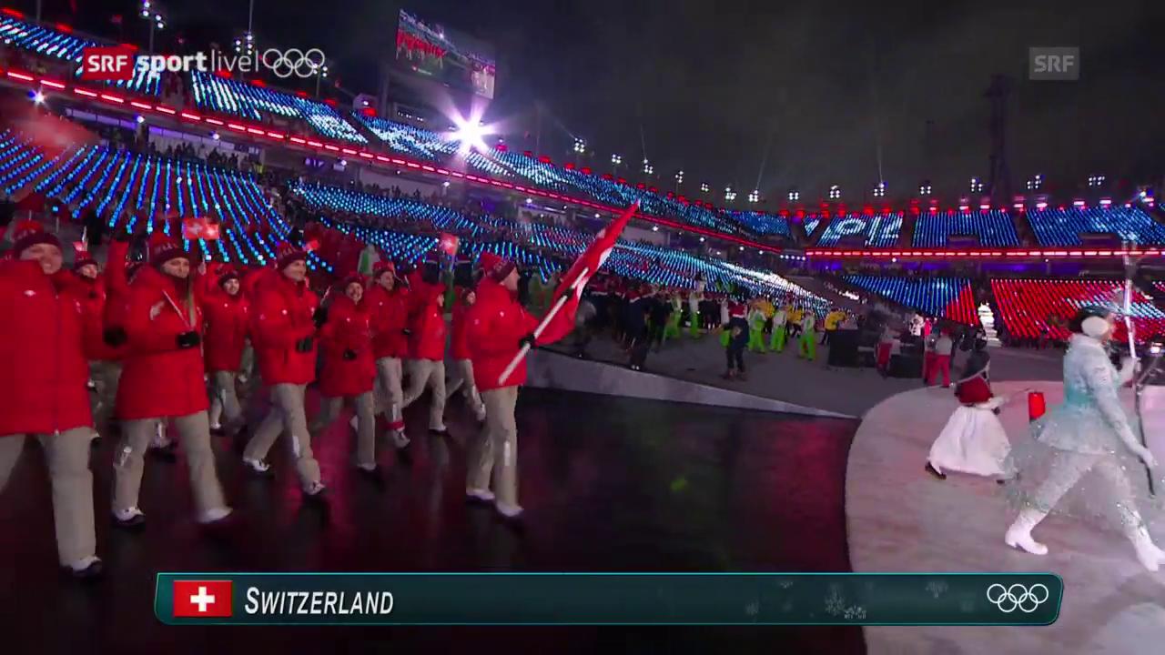 Der Einmarsch der Schweizer Delegation