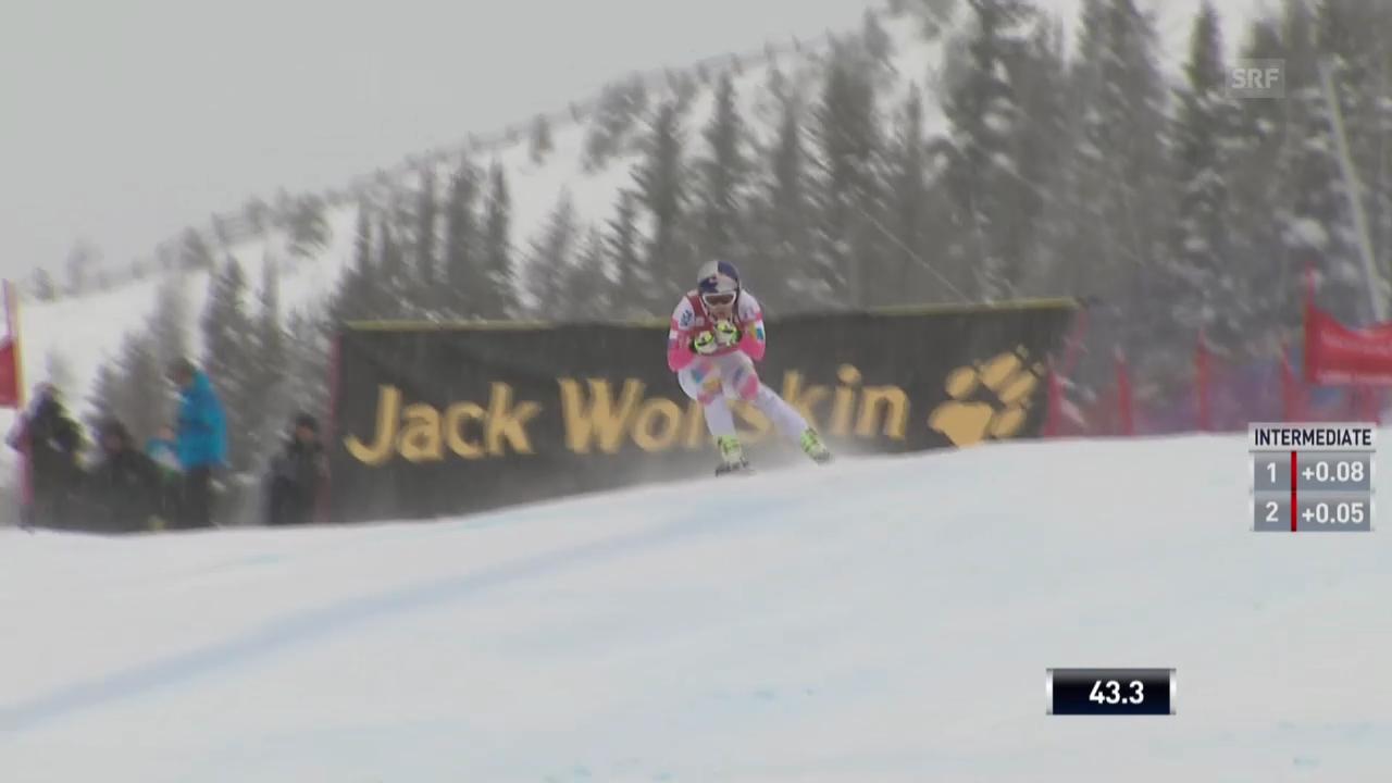 Ski Alpin: Weltcup-Abfahrt Lake Louise, Fahrt von Lindsey Vonn